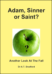 Book cover: Adam, Sinner or Saint? Another Look At The Fall - Dr. A Bradford